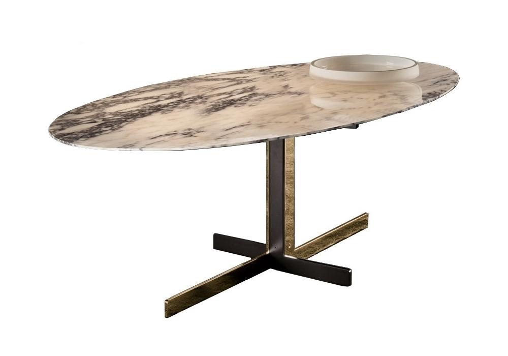 Catlin tavolo con piano in marmo minotti milia shop - Tavolo piano marmo ...