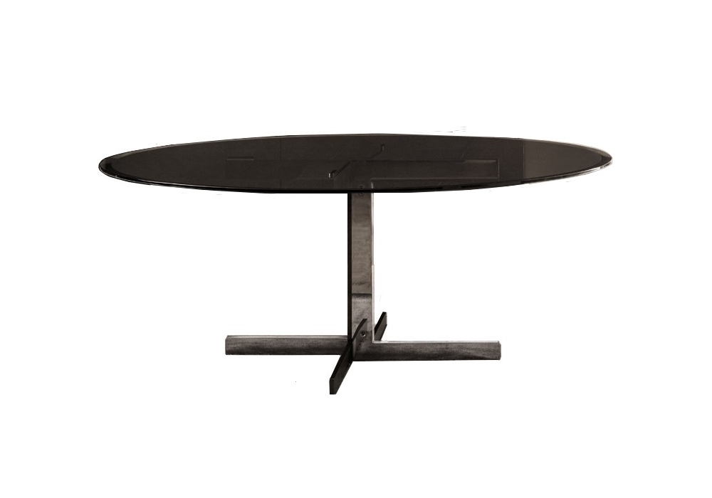catlin table avec plateau en verre minotti milia shop. Black Bedroom Furniture Sets. Home Design Ideas