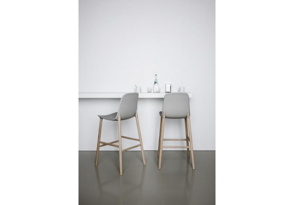 Sharky stool taburete con respaldo alto kristalia milia shop for Taburetes altos con respaldo