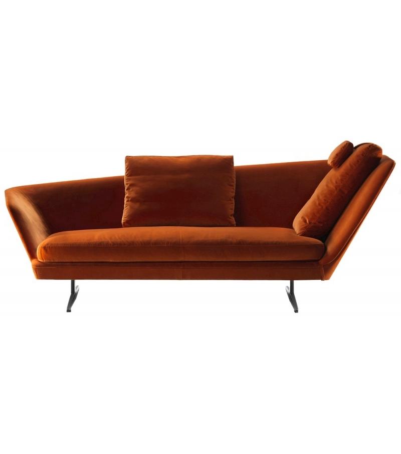 Zeus divano con schienale obliquo flexform milia shop - Schienale divano ...