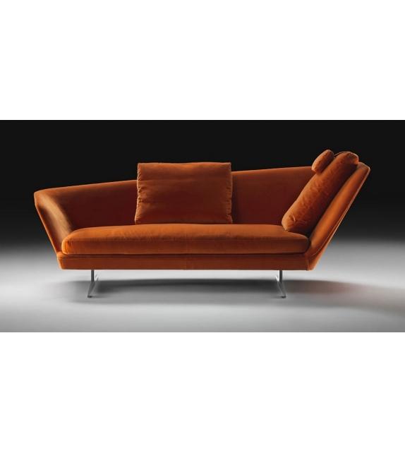 Zeus Oblique Backrest Sofa Flexform