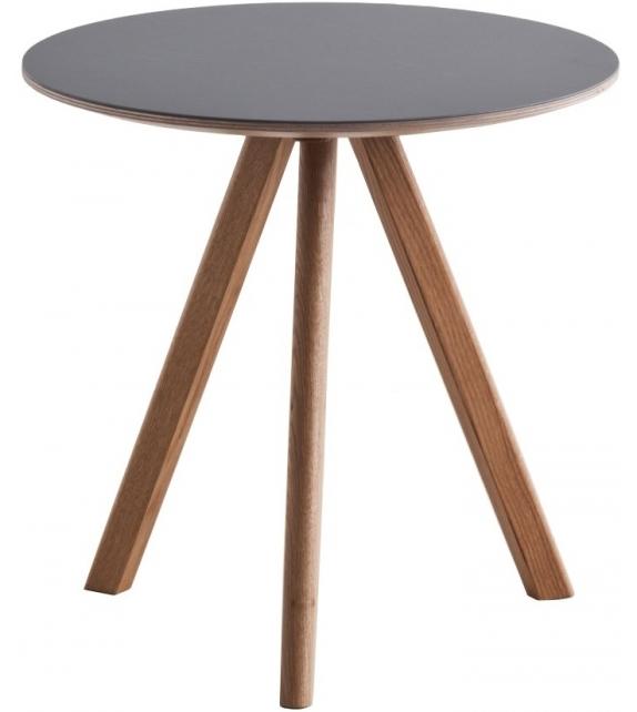 Copenhague Round Table CPH20 Tavolino Con Piano In Linoleum Hay