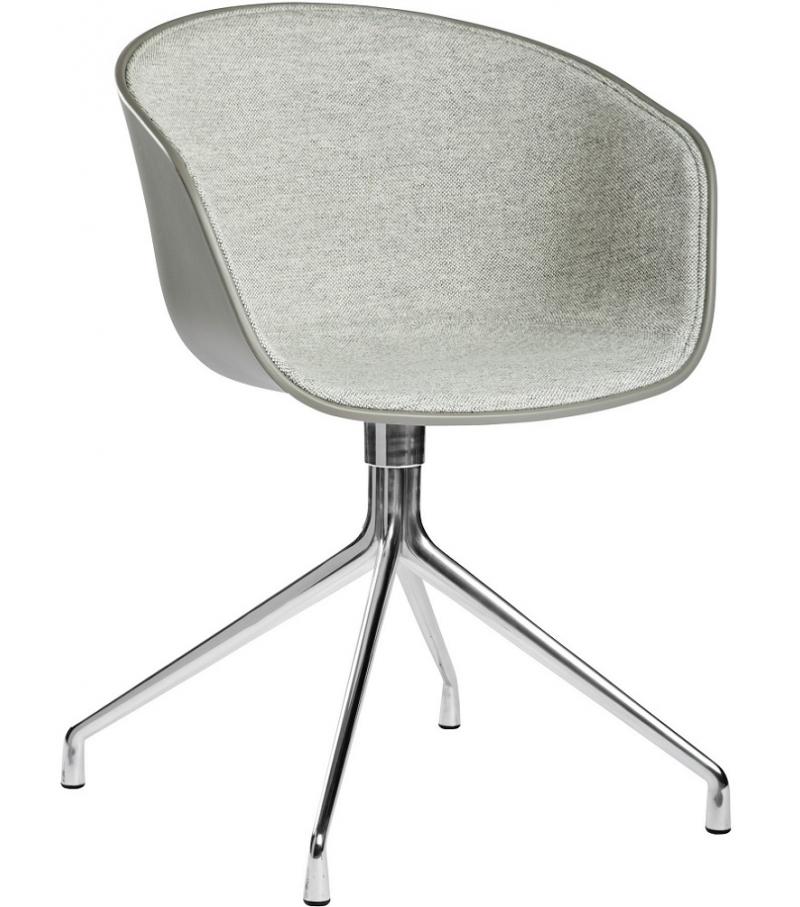 Der Drehstuhl about a chair aac 20 drehstuhl mit frontpolster hay milia shop