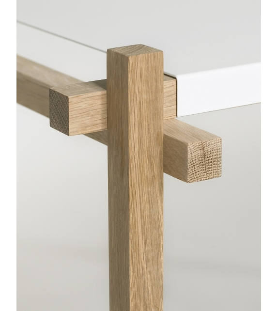 Hay: Woody Column Low Shelving System