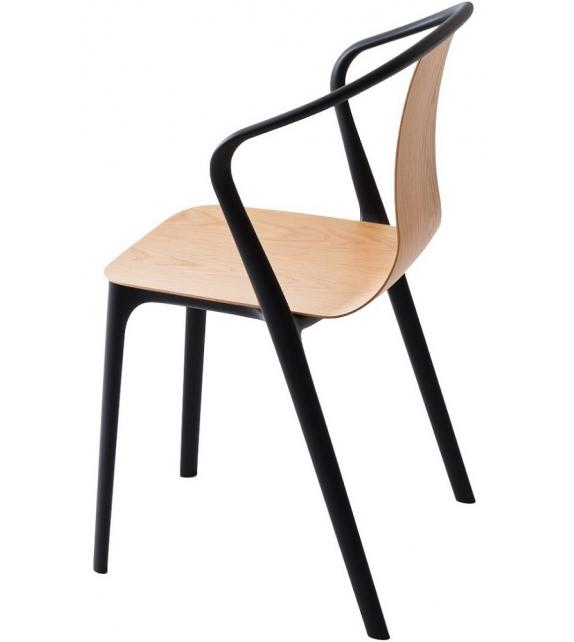 Belleville armchair wood fauteuil vitra milia shop - Chaise longue fauteuil ...