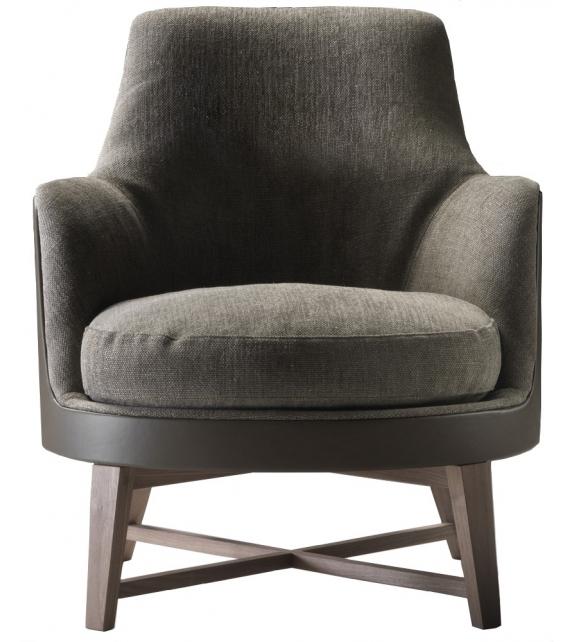 Guscio soft wooden base armchair flexform milia shop for Chaise longue flexform