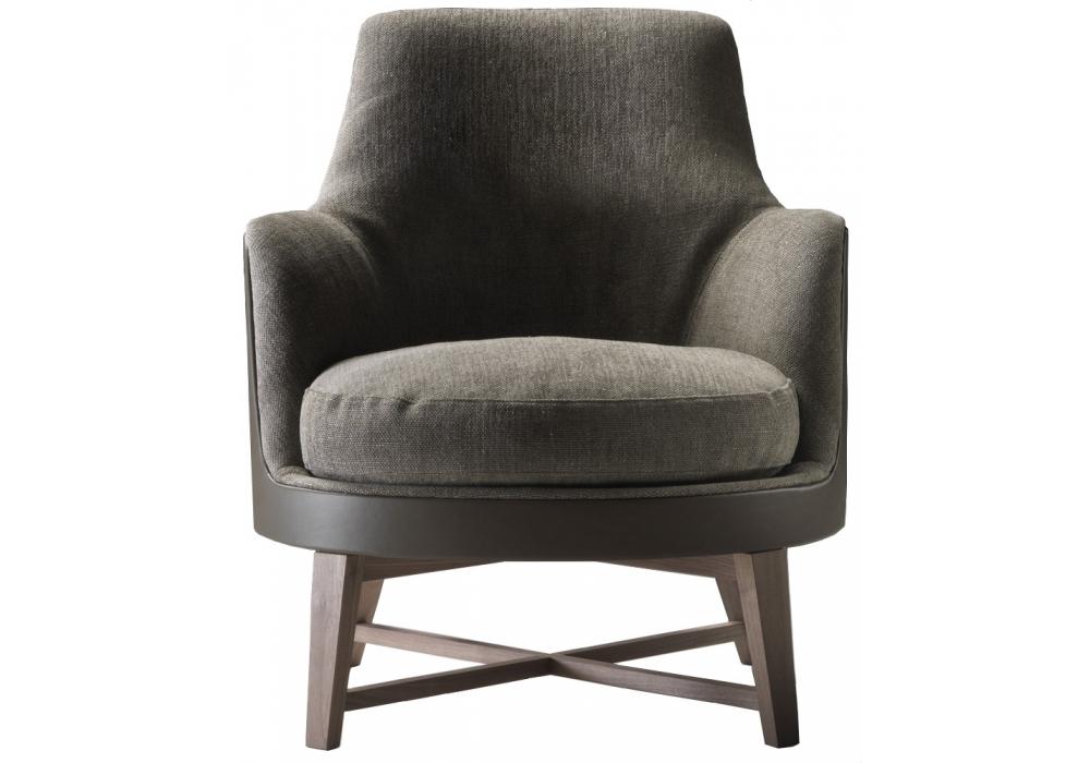 Guscio Soft Wooden Base Armchair Flexform Milia Shop