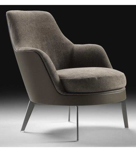 Guscio Soft Metalsockel Sessel Flexform