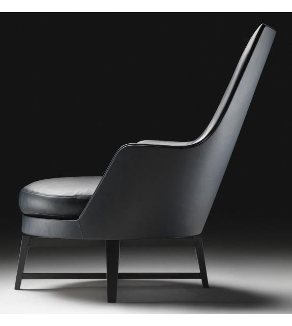 Guscioalto Wooden Base Armchair With Armrests Flexform