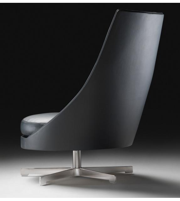 Guscioalto Turning Aluminium Base Armchair Flexform