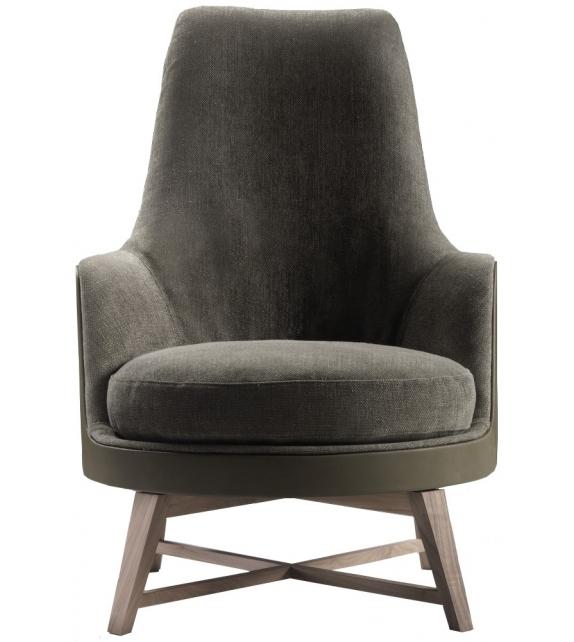 guscioalto soft holzsockel sessel flexform milia shop. Black Bedroom Furniture Sets. Home Design Ideas
