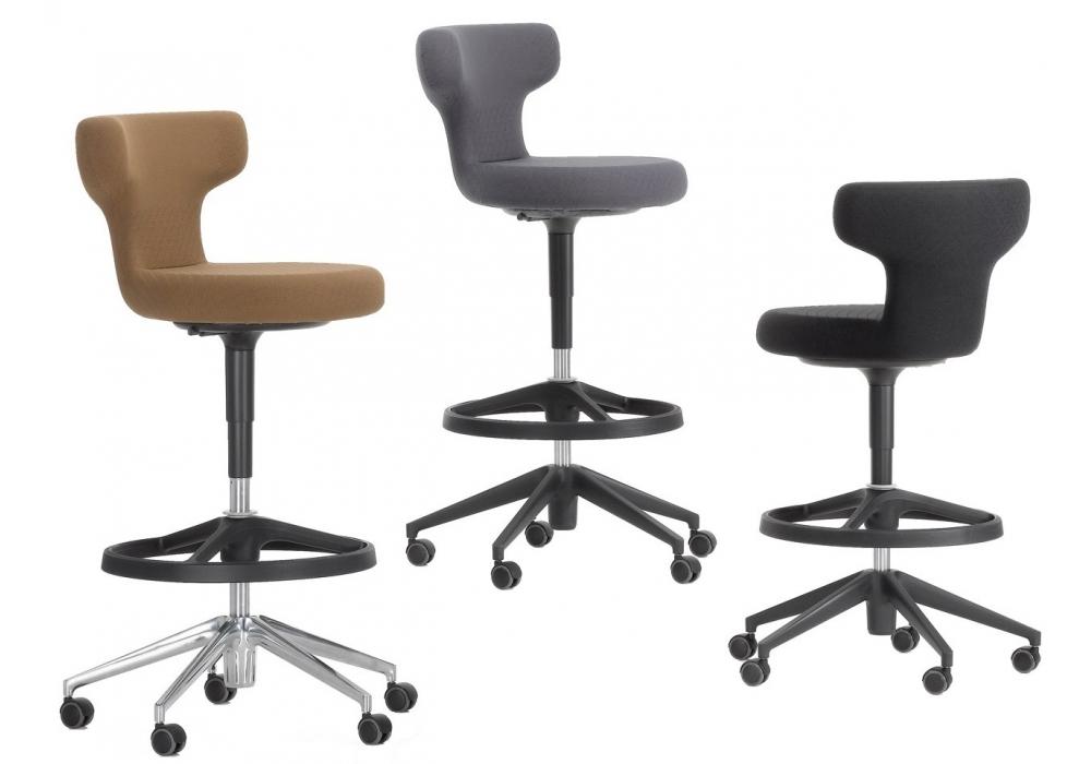 Pivot high stool chair vitra milia shop for Chaise haute vitra