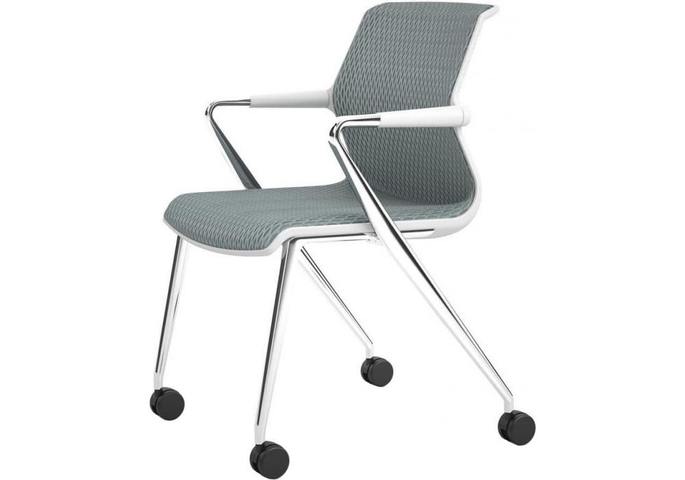 Unix chair sedia con base gambe su ruote vitra milia shop
