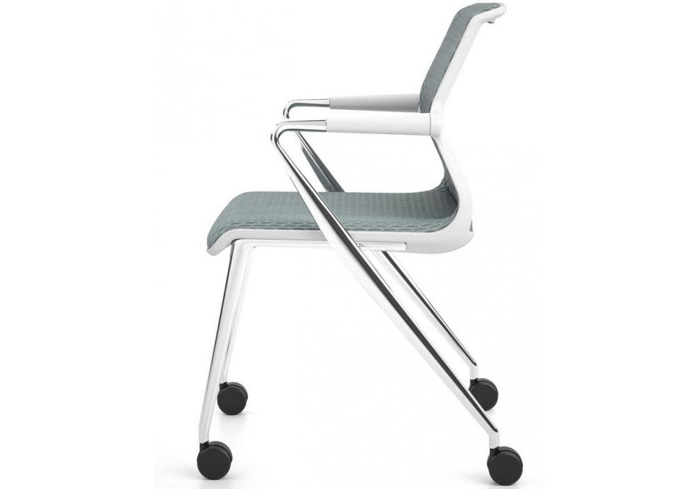 unix chair stuhl mit vierbeinstuhl auf rollen vitra. Black Bedroom Furniture Sets. Home Design Ideas