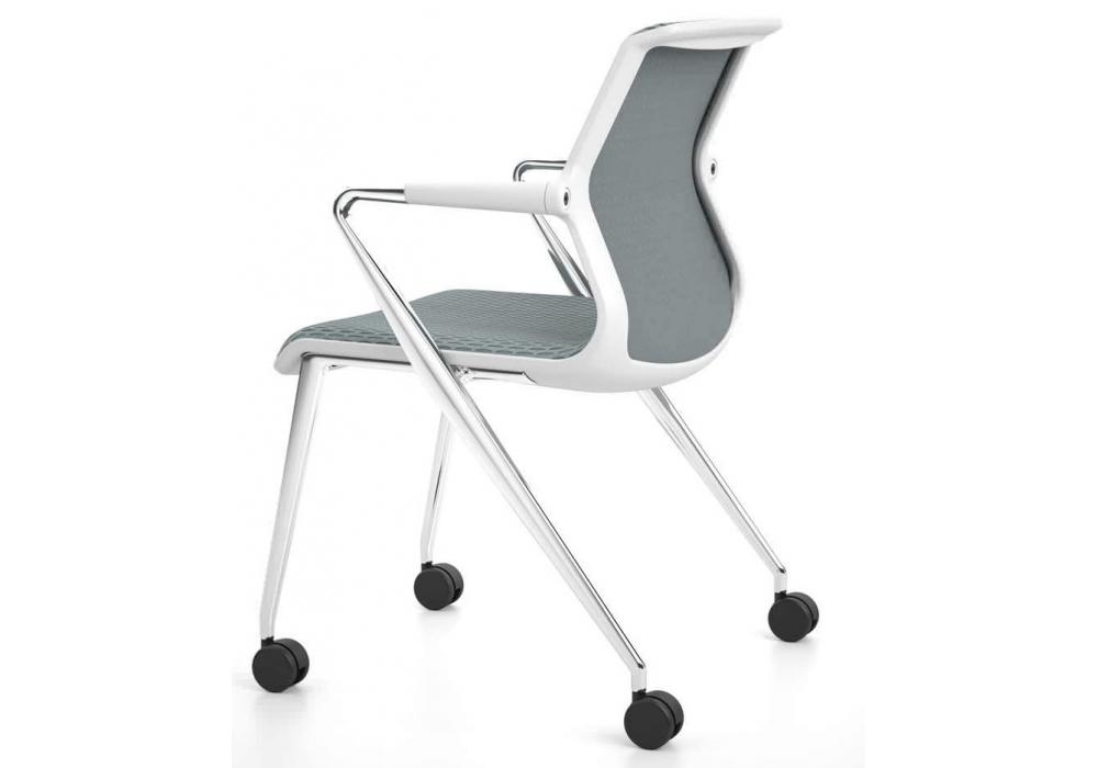 Unix chair silla con base de 4 patas con ruedas vitra for Patas con ruedas