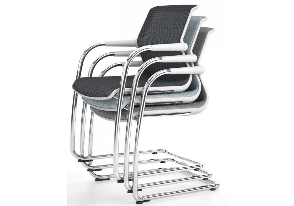 unix chair sedia su slitta vitra - milia shop - Sedie Per Conferenze Usate