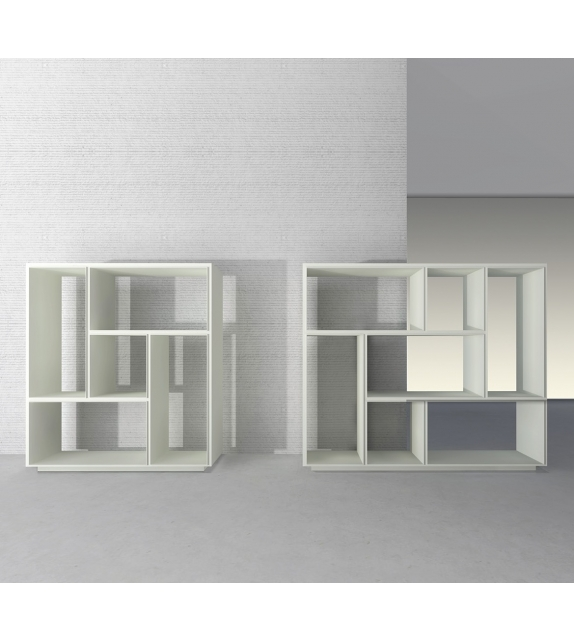 Opus Bookcase With Open Compartments Rimadesio
