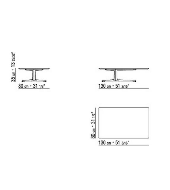 Fly Rectangular Side Table Flexform