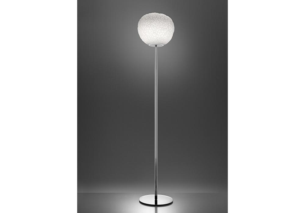 Acquista lampada a stelo nica paralume in stoffa marrone lampade