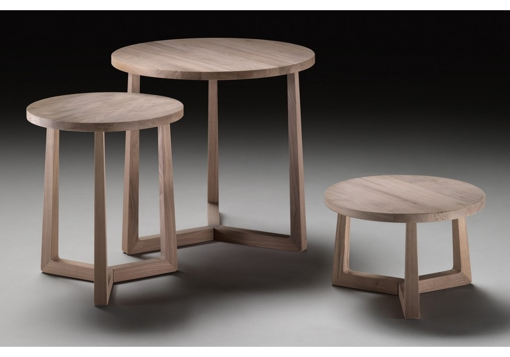 Jiff table basse ronde flexform milia shop - Table basse ronde wenge ...