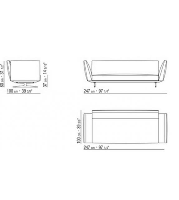 Flexform Sofa Evergreen