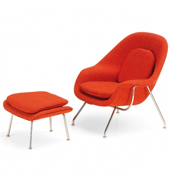 Womb chair & Ottoman, Saarinen