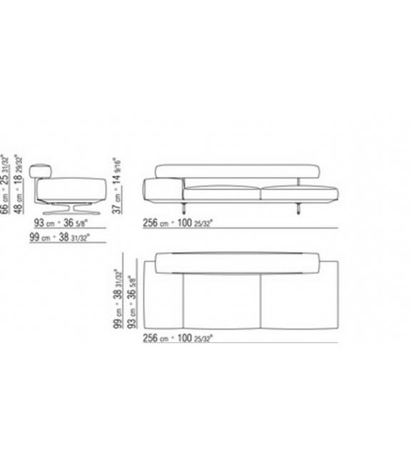 Wing Chaise Longue Flexform