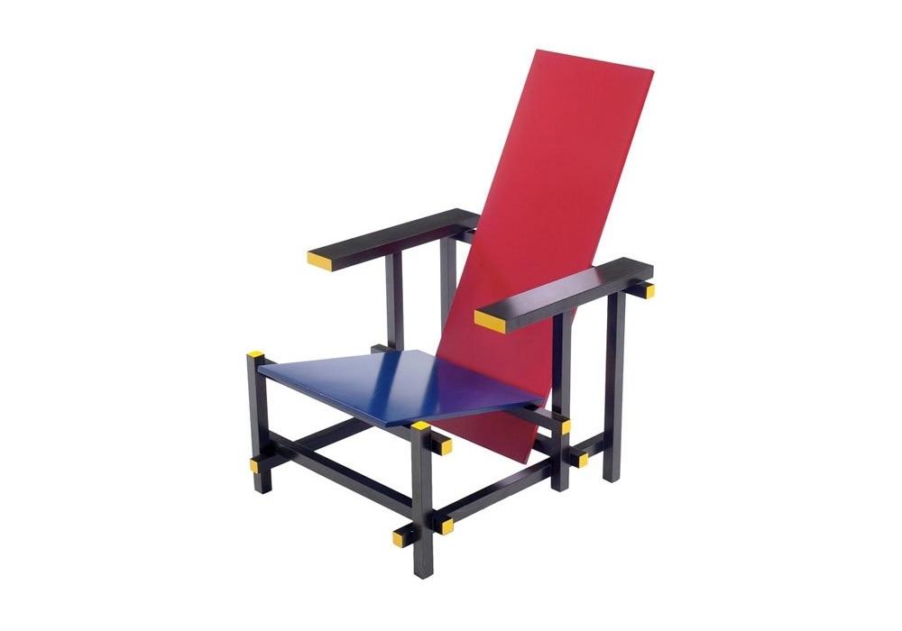 Miniatuur Rietveld Stoel : Rietveld rood blauwe stoel miniature milia shop