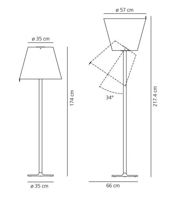 Melampo Mega Floor Lamp Artemide