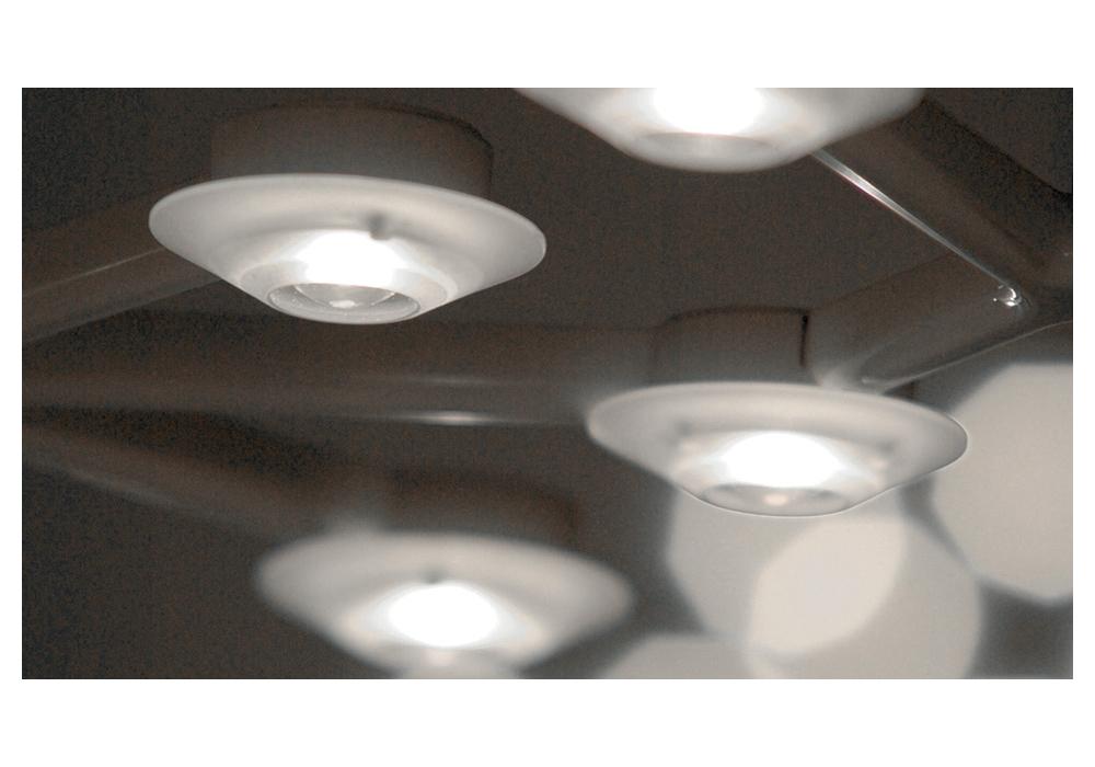 Led net lineare lampada a sospensione artemide milia shop for Lampada alogena lineare led