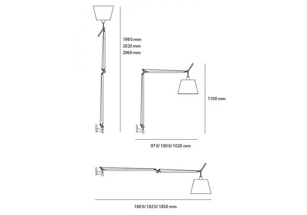 Tolomeo Mega Wall Lamp Artemide Milia Shop