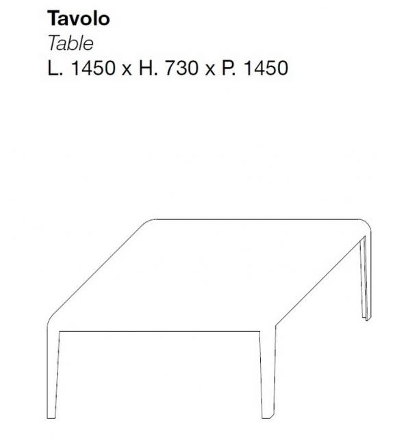 Ferro Table Carrée Porro