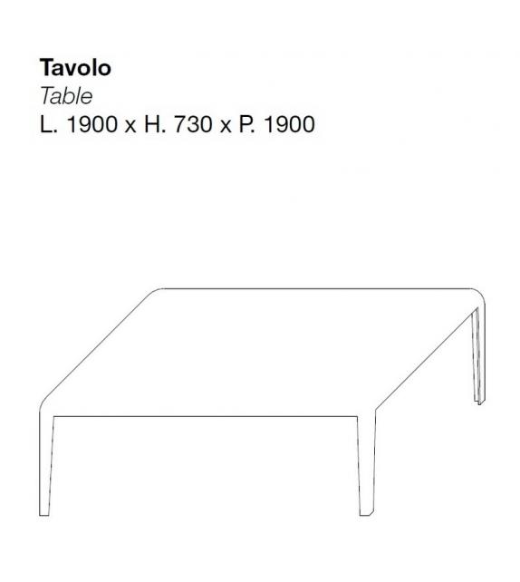 Ferro quadratischen Tisch Porro