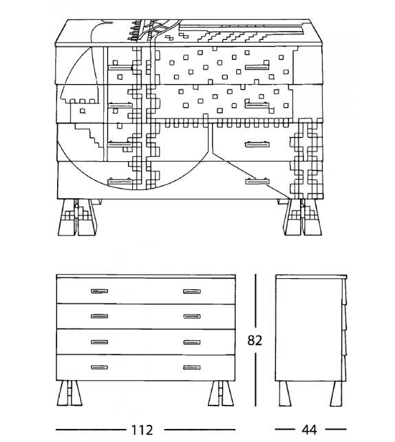 7820 Calamobio Zanotta Chest Of Drawers