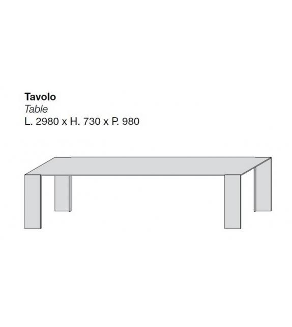 Metallico Porro Tavolo da Esterno