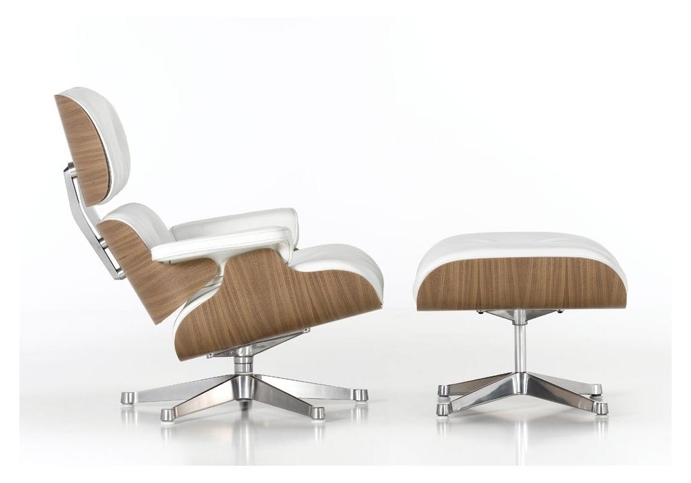 Vitra white version lounge chair & ottoman milia shop