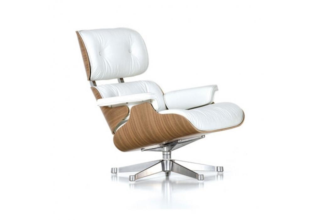 lounge chair ottoman white version vitra milia shop. Black Bedroom Furniture Sets. Home Design Ideas