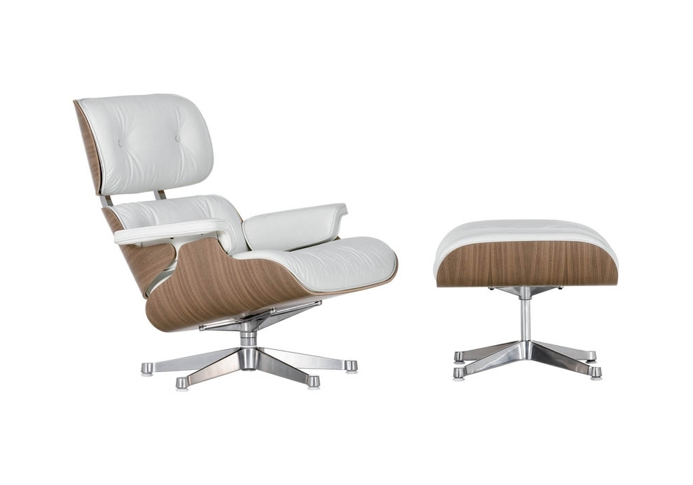Lounge Chair & Ottoman White Version Vitra - Milia Shop