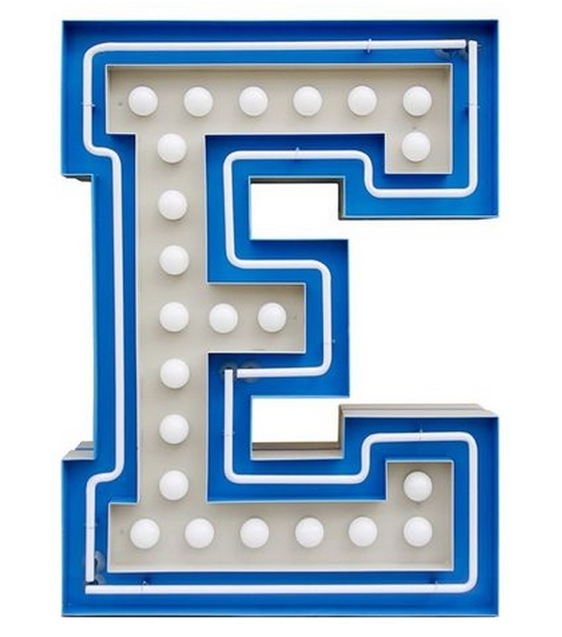 Graphic Collection Letter E Lamp Delightfull Milia Shop