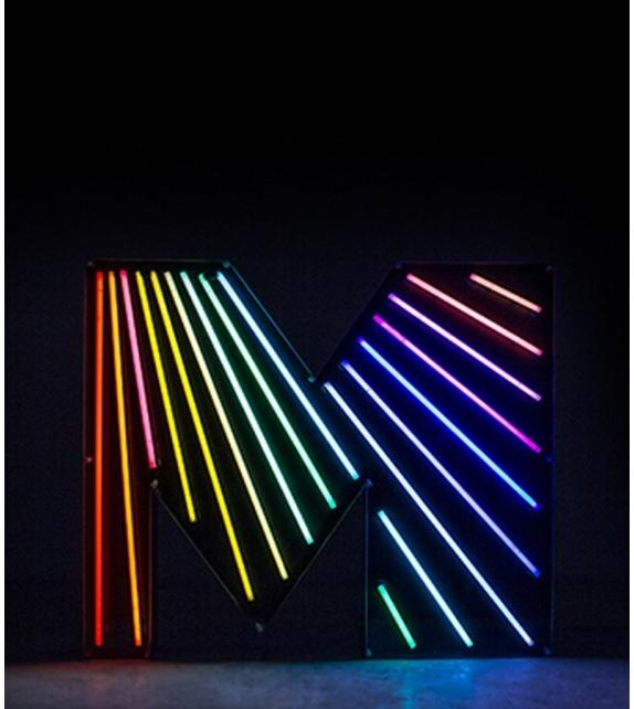 graphic collection letter m neon delightfull milia shop. Black Bedroom Furniture Sets. Home Design Ideas