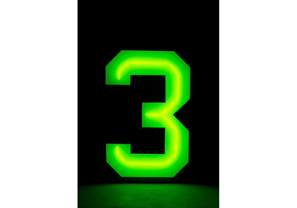 Graphic Collection  U2010 Number 3 Neon Delightfull