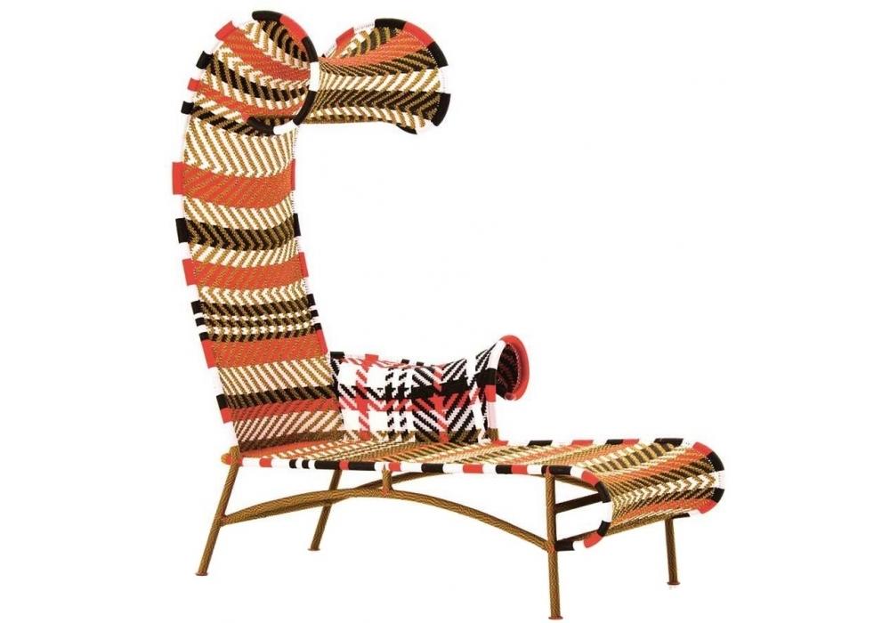 Shadowy chaise longue milia shop for Beach chaise longue