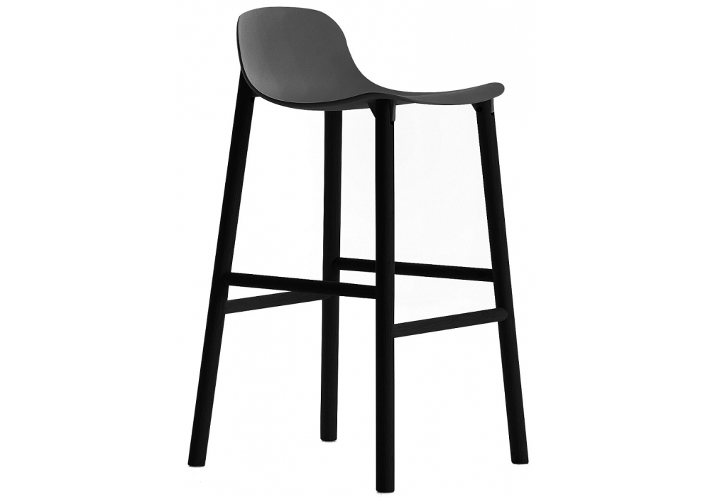 sharky alu stool tabouret avec dossier haut kristalia milia shop. Black Bedroom Furniture Sets. Home Design Ideas