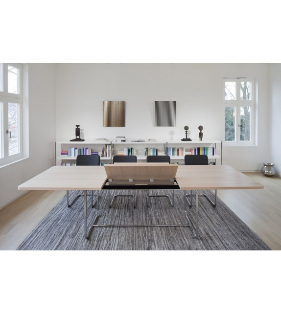 S 1072 thonet extensible table milia shop - Table laquee extensible ...