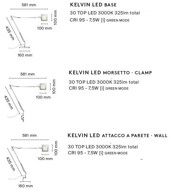 Kelvin Led Lampada da Tavolo Flos