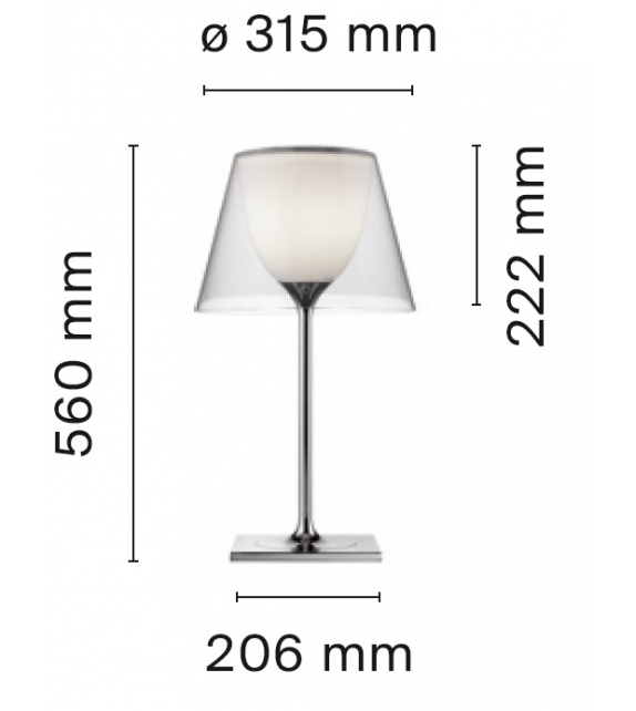 Ktribe T1 Glass Làmpara De Mesa Flos