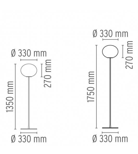 Glo-Ball F1 & F2 Floor Lamp Flos
