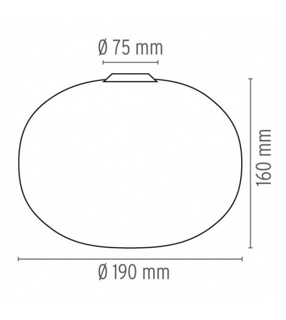Glo-Ball C/W Zero Wand- oder Deckenleuchte Flos
