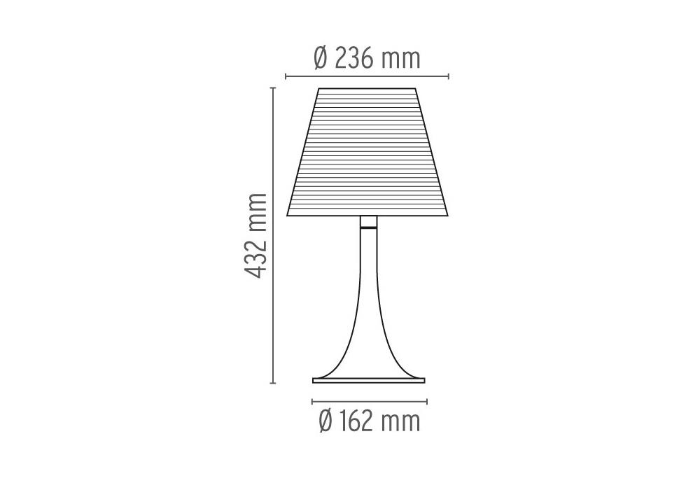 Miss K Soft Table Lamp Flos Milia Shop