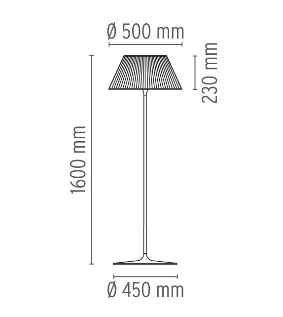 Romeo Moon F Floor Lamp Flos